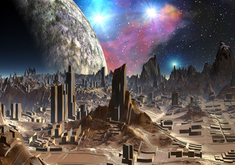 Ancient City of Aaden - Alien Planet