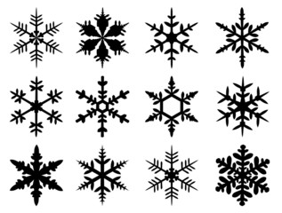 set of snow flakes