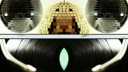 Mirror ball and disc compostition