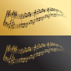 Musical symbols gold&black