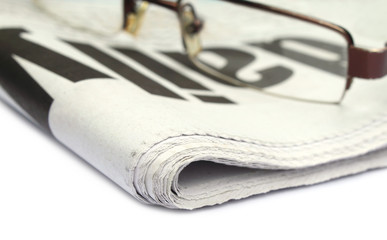 Newspaper with spectacles