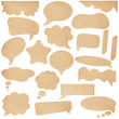 Brown Paper speech bubbles. With Save path on paper