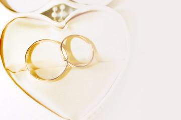 wedding rings as celebration background