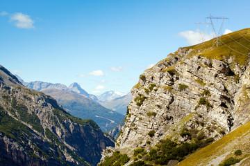 elettrodotto in alta montagna