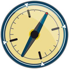 Kompass mit schräger Nadel