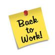 Post-it con chincheta texto Back to Work!