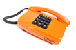 Telefon orange aus den 80ern