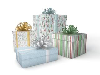 3d Rendering bunte Geschenke