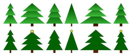 stilisierte tannenbäume