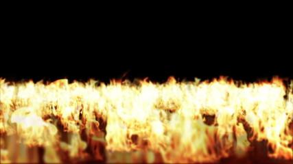Fire Flames, Floor Burning, Camera Fly