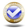 bester preis best-preis-garantie button 3d freigestellt