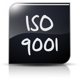 Symbole glossy vectoriel norme ISO 9001 poster