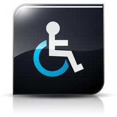 Symbole glossy vectoriel handicap