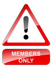 MEMBERS ONLY Signpost (free membership registration)