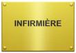 """""""Infirmière"""" Plaque Professionnelle Gravée"""