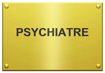 """""""Psychiatre"""" Plaque Professionnelle Gravée"""