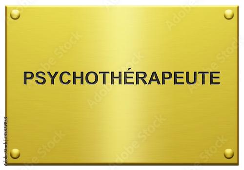 """""""Psychothérapeute"""" Plaque Professionnelle Gravée"""