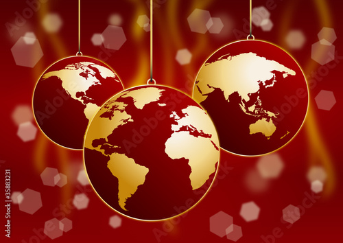 Christmas in the world # Vector