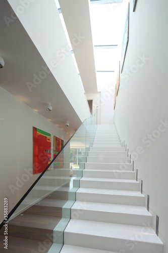 Modern house interior with stairs de Berni, Photo libre de droits