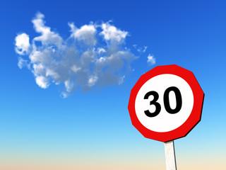 Verkehrszeichen Zulässige Höchstgeschwindigkeit 30