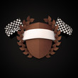 Motorsport Wappen Bronze 3D
