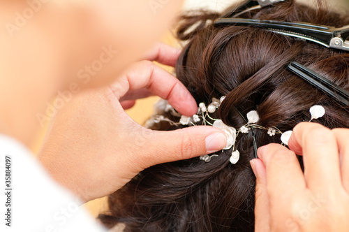 canvas print picture Hochzeitsvorbereitung