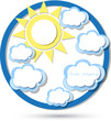 cloud sun vector
