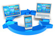 Cloud computing and wireless networking concept