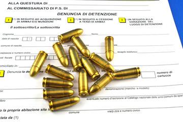 Denuncia di armi e munizioni