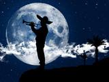 Mariachi playing at the moonlight