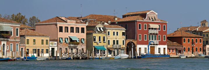 Italy, Venice, Murano Island, one of the town channels