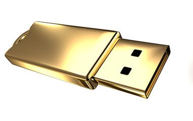 Gold USB flash drive