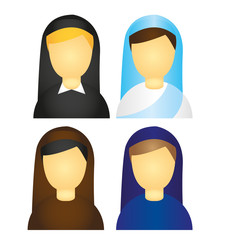 nun icons vector