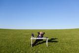 entspannter manager in der natur