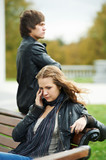 relationship difficulties of young people couple poster
