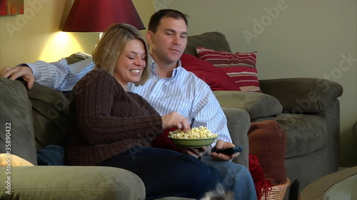 Couple Watcing Television