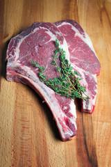 Steak meat raw
