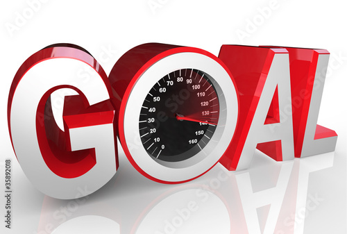 Goal Speedometer Quickly Racing to Success Achievement