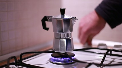 coffee maker on the stove