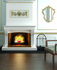 Classical designed fireplace
