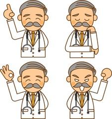 医師 表情 イラスト