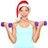 Fitness christmas woman training - 35893299