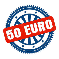 50 Euro stempelbutton