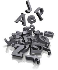 viele Buchstaben