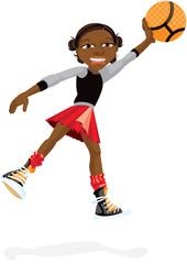 Young Girl With Basketball