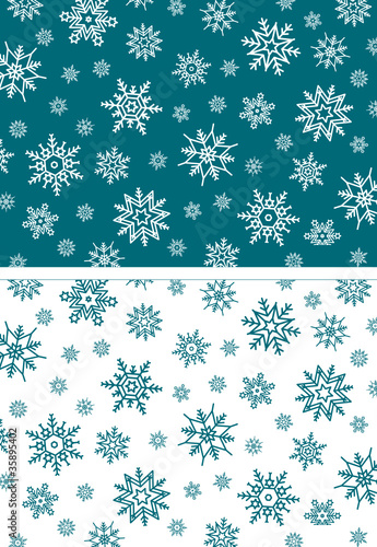 Background Pattern Snowflakes Turquoise
