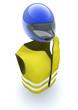 gilet jaune et casque