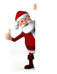 Thumbs Up Santa with blank sign