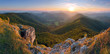 Klak peak in sunset - Slovakia mountain Fatra