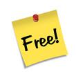 Post-it con chincheta texto Free!